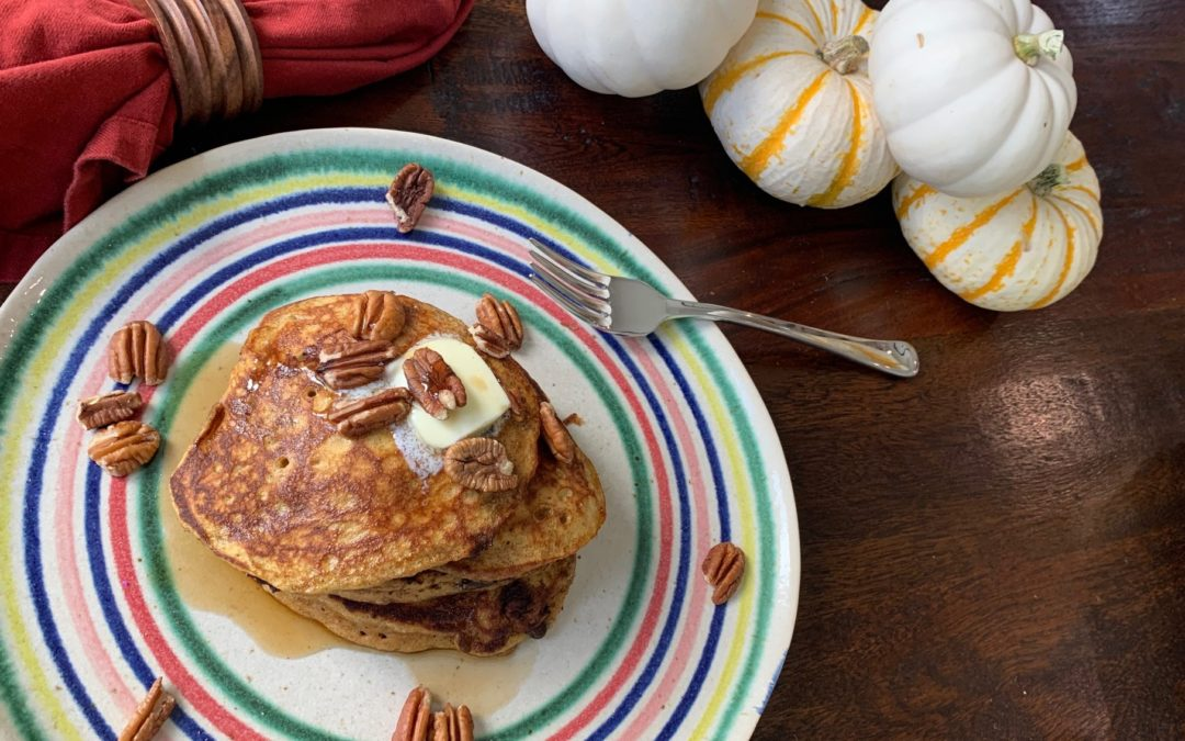 The Best Chocolate Pumpkin Spice Pancakes