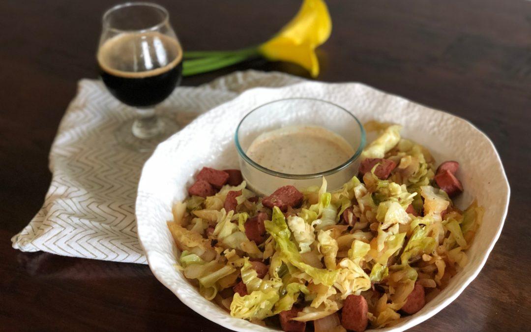Bratwurst + Cabbage